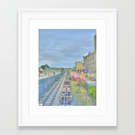 Down by the Tracks Framed Art Print