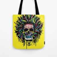 Magical Voodoo Skull Warrior Tote Bag