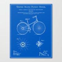 Bicycle Patent - Blueprint Canvas Print