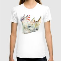 Rhino's Party Womens Fitted Tee White SMALL