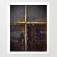 Dirty Window Panes Art Print