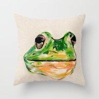BachelorFrog Throw Pillow