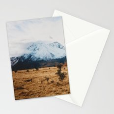 Peaceful New Zealand mountain landscape Stationery Cards