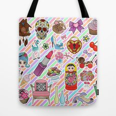 I Love Stickers Tote Bag