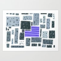 Derelict City, Lavender Field Art Print