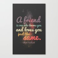 Friendship | Elbert Hubb… Canvas Print