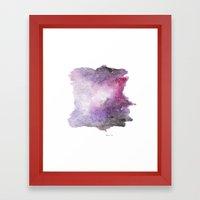 Galaxy Watercolor Framed Art Print