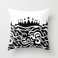 Fills Doodle Throw Pillow