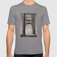 Hold Your Breath Mens Fitted Tee Tri-Grey SMALL