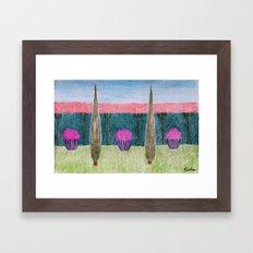 Pink Congea Fence Framed Art Print