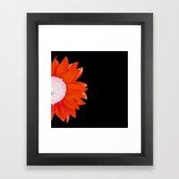 Red & Black Summer Framed Art Print