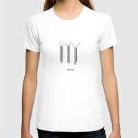 New York Womens Fitted Tee White SMALL