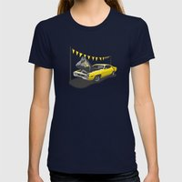 Monkey Business Womens Fitted Tee Navy SMALL
