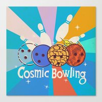 Cosmic Bowling Canvas Print