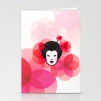 Geisha Icon Stationery Cards