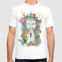 Dissolve into Light Mens Fitted Tee White SMALL