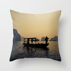 Dusky Halong Throw Pillow