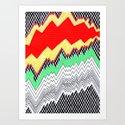 Isometric Harlequin #1 Art Print