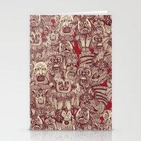 gargoyles red Stationery Cards