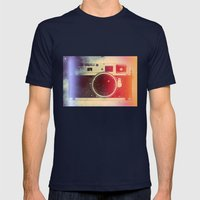 Leica dream Mens Fitted Tee Navy SMALL