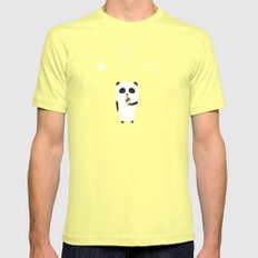 The Happy Ice Cream Lemon SMALL Mens Fitted Tee