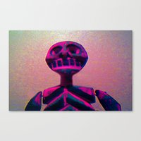 RED SKELETON Canvas Print