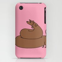 iPhone 3Gs & iPhone 3G Cases featuring Poopy wiener by TheYUCK