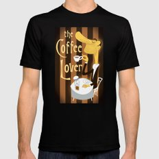 The Coffee Lover SMALL Black Mens Fitted Tee