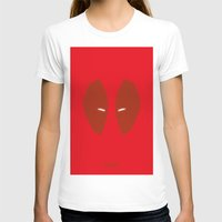 Deadpool Womens Fitted Tee White SMALL