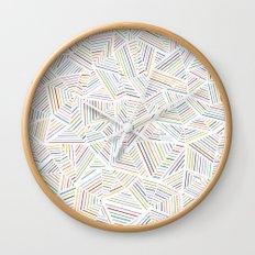 Abstraction Linear Rainbow Wall Clock