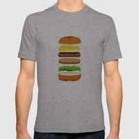 Cheeseburger Mens Fitted Tee Athletic Grey SMALL