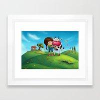 My Moo Framed Art Print