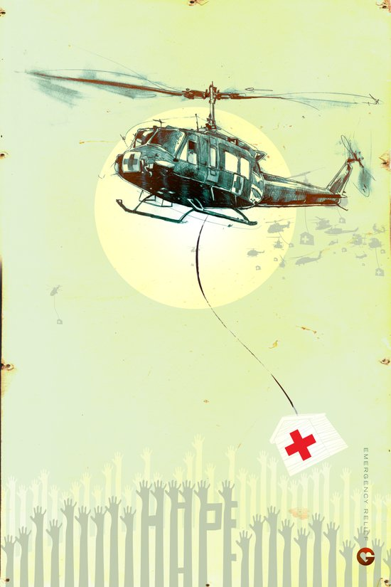 "Glue Network Print Series ""Emergency Relief"" Art Print"