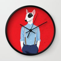 Skinhead Bull Terrier Wall Clock