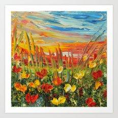 SUNSET MEADOW II Art Print
