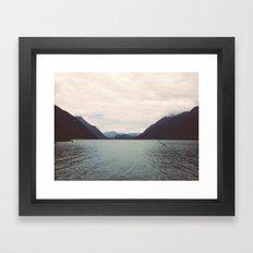 Alouette Lake Framed Art Print
