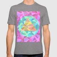 Psychedelic Unicorn Mens Fitted Tee Tri-Grey SMALL