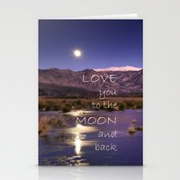 Love You To The Moon And… Stationery Cards