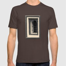 Geometric Old Wall Patte… Mens Fitted Tee Brown SMALL