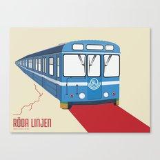 Röda linjen Canvas Print