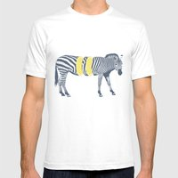 Zesty Zebra Mens Fitted Tee White SMALL