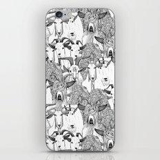just goats black white iPhone & iPod Skin