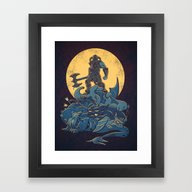 Framed Art Print featuring The Dragon Slayer by Fanboy30
