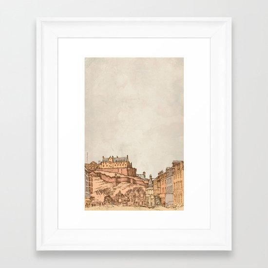 Tea in Edinburgh Framed Art Print