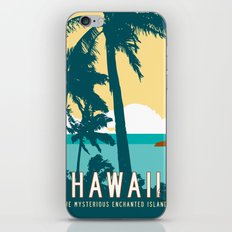 Hawaii Travel Poster iPhone & iPod Skin