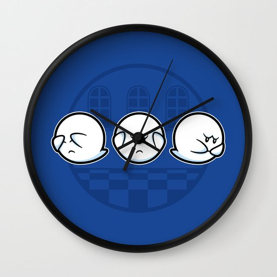 Boo No Evil Wall Clock