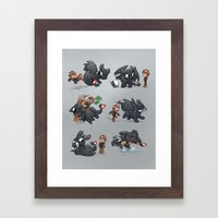 How Not to Train Your Dragon Framed Art Print