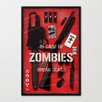 Zombie Emergency Kit Canvas Print
