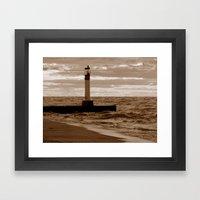 Lighthouse Study - Michigan, USA Framed Art Print