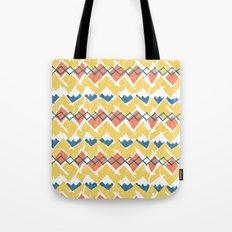 Linocut Tribal Tote Bag